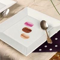 Assiette porcelaine personnalisée macarons