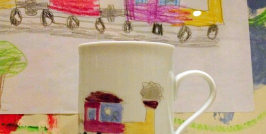 dessin sur mug porcelaine