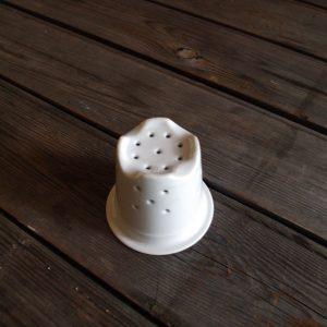 idée de support en porcelaine filtre tisanière