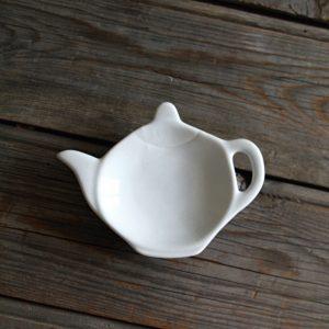idée de support en porcelaine repose sachet de thé