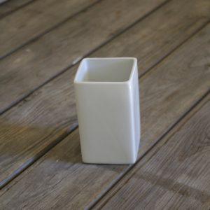 idée de support en porcelaine verre carré